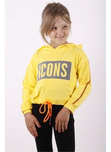 Toontoy Kids Toontoy Kız Çocuk Icons Baskılı Sweatshirt Sarı